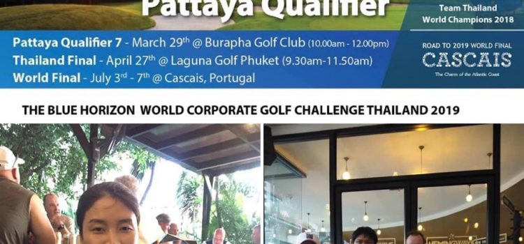 Congratulations to Pittaya and Nadrika#1 Caddy of Burapha  Mixed team winner first place of today world corporate Golf challenge qualifying round at burapha Golf & resort  Both in invited to the final Laguna Phuket in April and One more win will earn them a trip to Portugal to play in the world final round