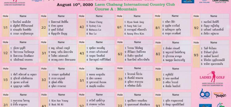 แพริ่ง Amazing Thailand EGA-TAT Pattaya Ladies Golf Championship 2020 @ Laem Chabang International Country Club (Monday, 10th August 2020)